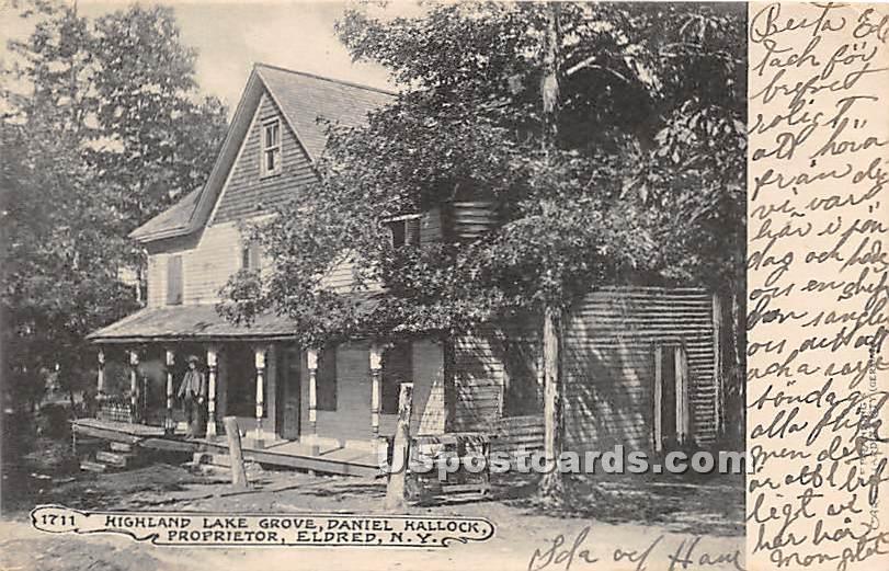 Highland Lake Grove - Eldred, New York NY Postcard