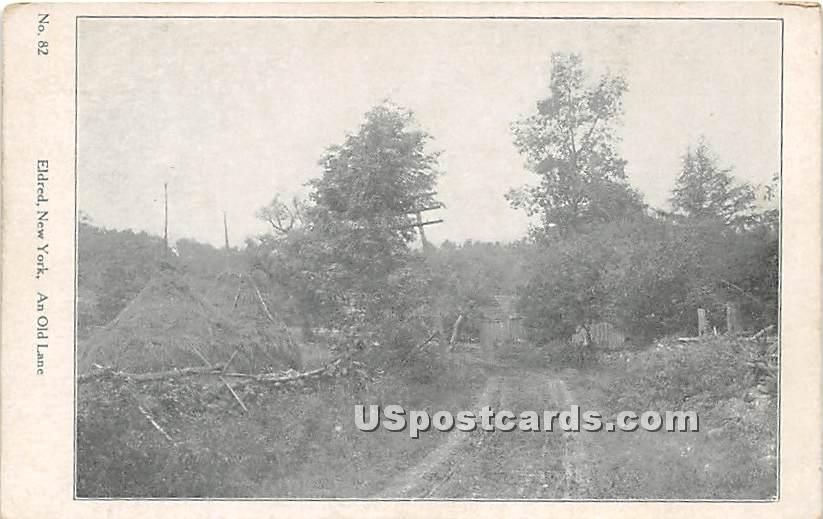 An Old Lane - Eldred, New York NY Postcard