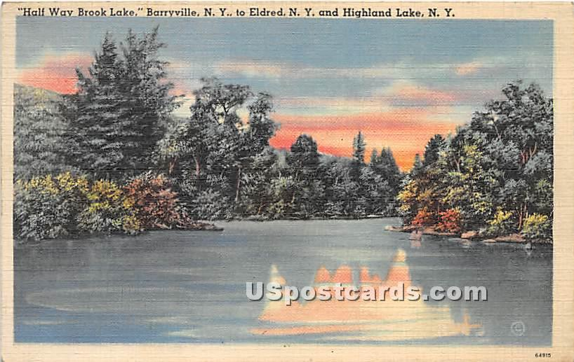 Half Way Brook Lake - Eldred, New York NY Postcard