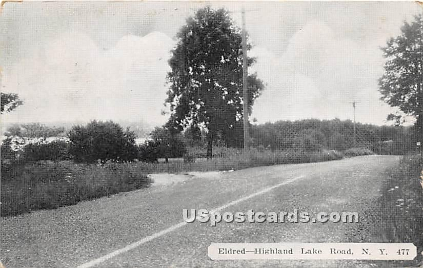 Highland Lake Road - Eldred, New York NY Postcard