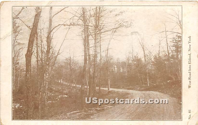 West Road - Eldred, New York NY Postcard