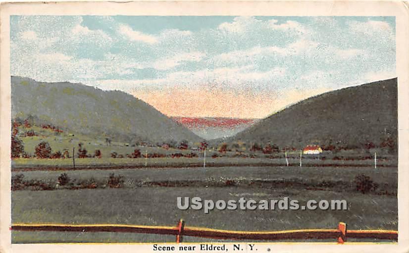 Scenery - Eldred, New York NY Postcard