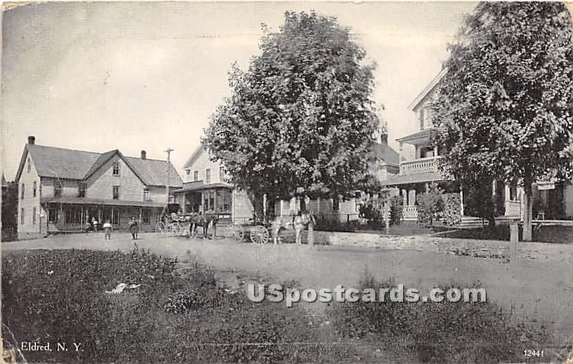 Main Street - Eldred, New York NY Postcard