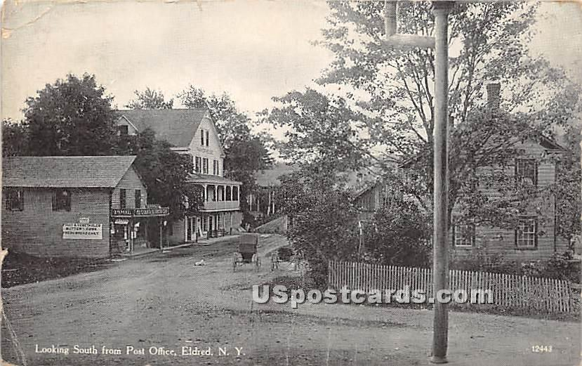 Looking South from Post Office - Eldred, New York NY Postcard