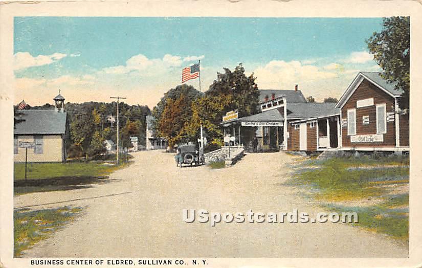 Business Center - Eldred, New York NY Postcard