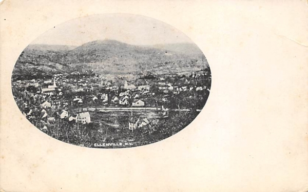 Birds Eye View Ellenville, New York Postcard