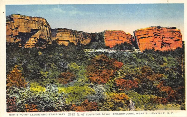 Sam's Point ledge Cragsmorre Ellenville, New York Postcard