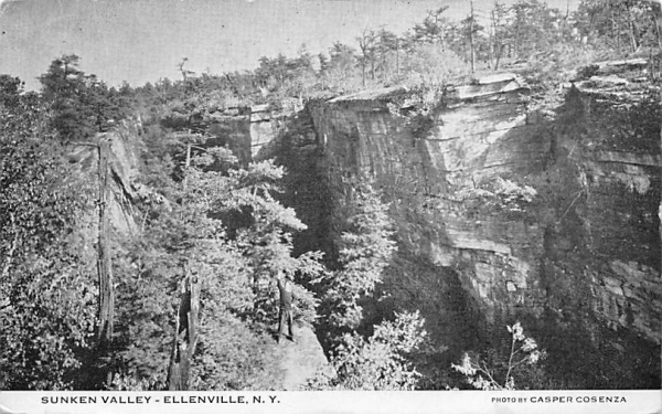 Sunken Valley Ellenville, New York Postcard