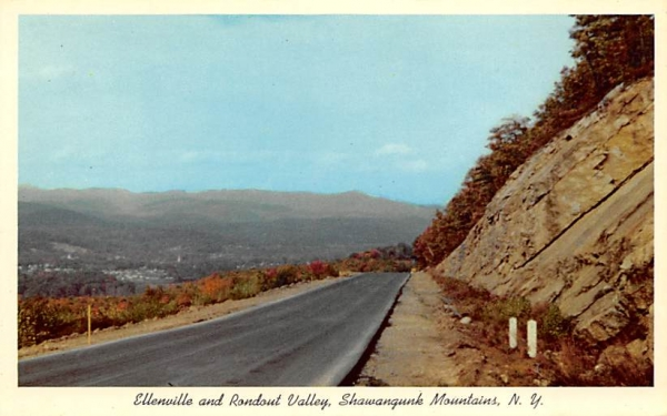 Rondout Valley Shawangunk Mountains Ellenville, New York Postcard