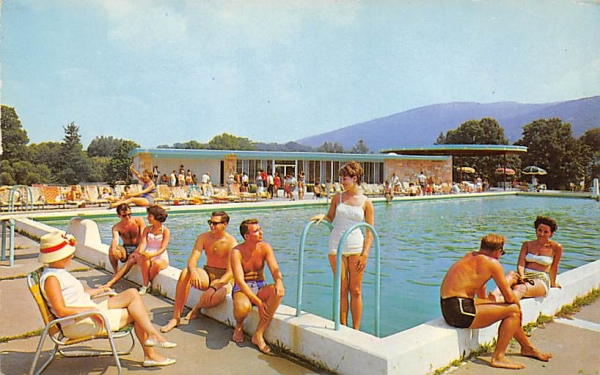 The Fallsview outdoor pool Ellenville, New York Postcard