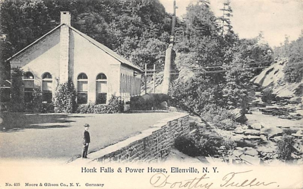 Honk Falls and Power House Ellenville, New York Postcard