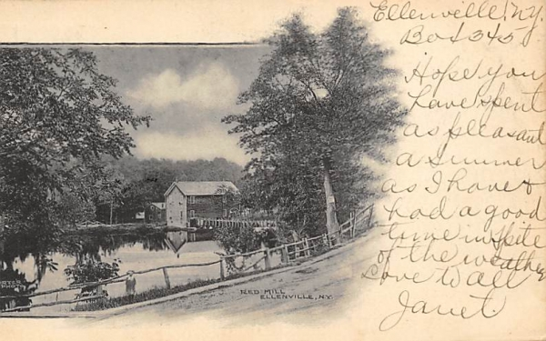 Red Mill Ellenville, New York Postcard