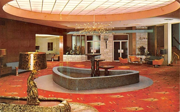 Nevele country Club Lobby Ellenville, New York Postcard