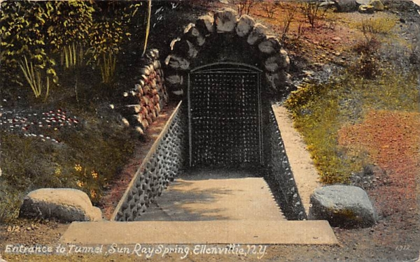 Tunnel Sun Ray Spring Ellenville, New York Postcard
