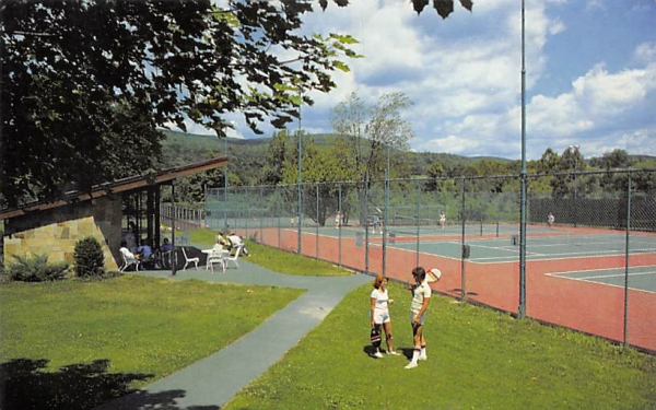 Fallsview Tennis Court Ellenville, New York Postcard