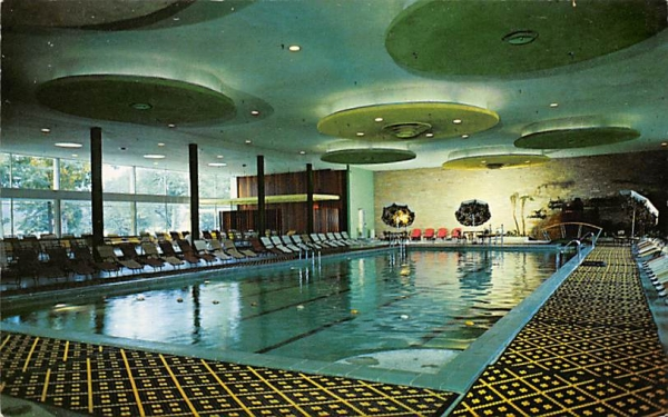 Waikiki Indoor Pool Ellenville, New York Postcard