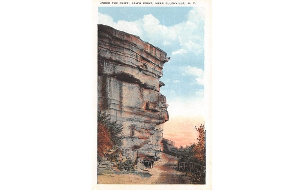 The Cliff Sam's Point Ellenville, New York Postcard