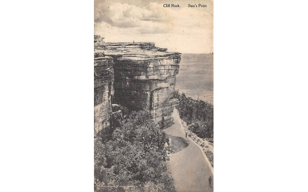 Cliff Rock Sam's Point Ellenville, New York Postcard