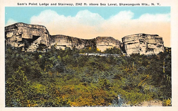 Sam's Point ledge Shawangunk MTS Ellenville, New York Postcard