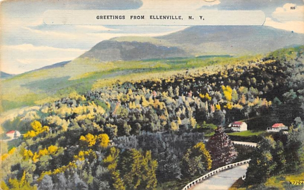 Greetings From  Ellenville, New York Postcard