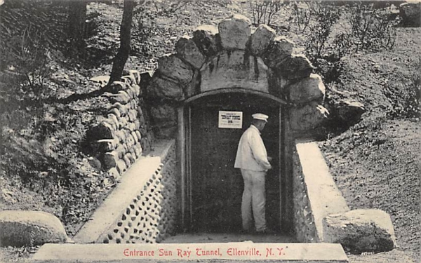 Sun Ray Tunnel Ellenville, New York Postcard