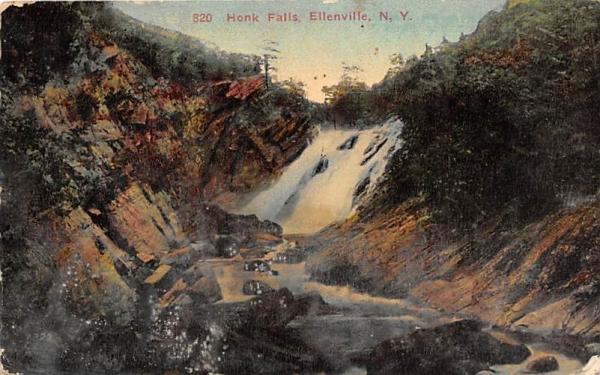 Honk Falls  Ellenville, New York Postcard
