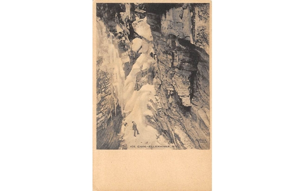 Ice Cave Mountains Ellenville, New York Postcard