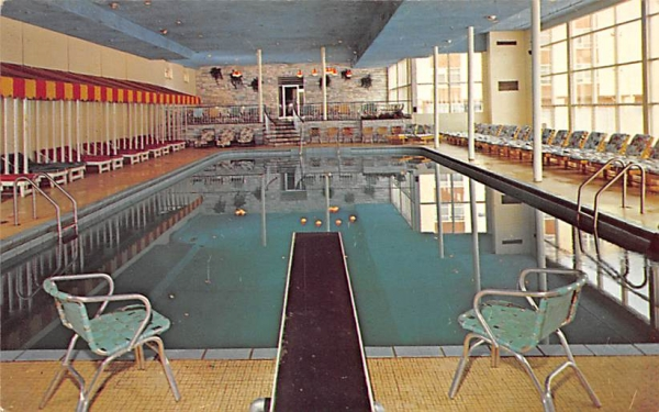 The Fallsview Tropicana Indoor Pool Ellenville, New York Postcard