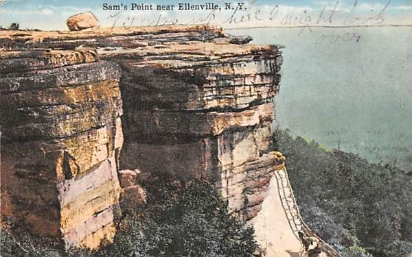 Sam's Point Ellenville, New York Postcard