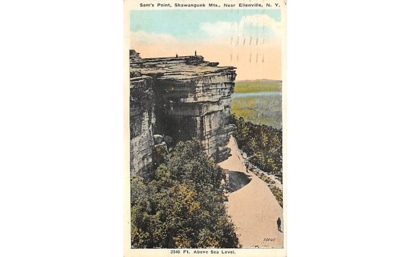 Sam's Point Shawangunk Mts 2340 Ft Ellenville, New York Postcard