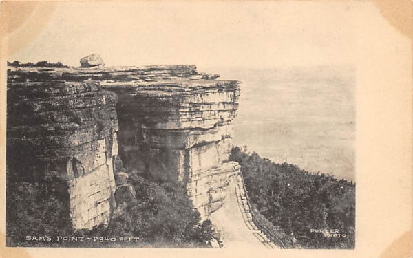 Sam's Point 2340 Ft Ellenville, New York Postcard