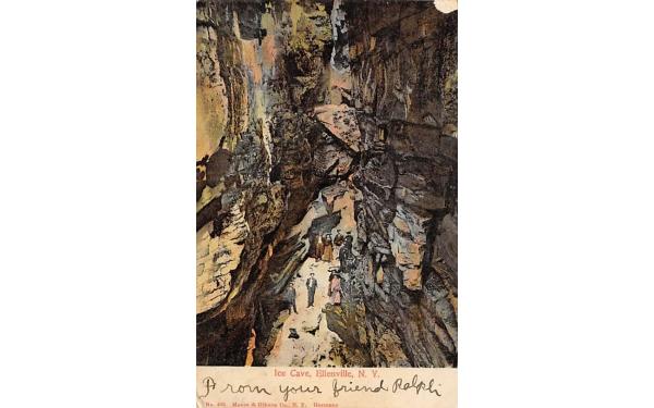 Ice Cave Shawangunk Mts Ellenville, New York Postcard