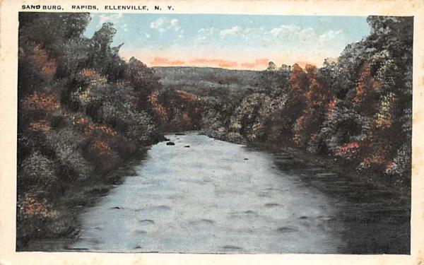 Sandburg Rapids Ellenville, New York Postcard