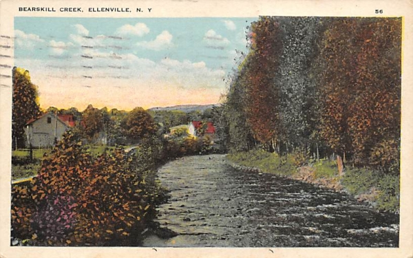 Bearskill Creek Ellenville, New York Postcard