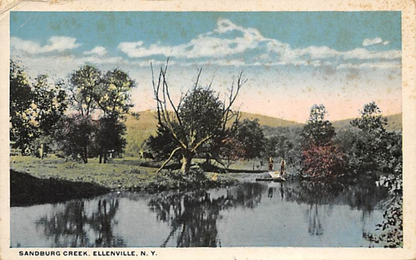 Sandburg Creek Ellenville, New York Postcard