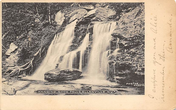 Hanging Rock Falls Ellenville, New York Postcard