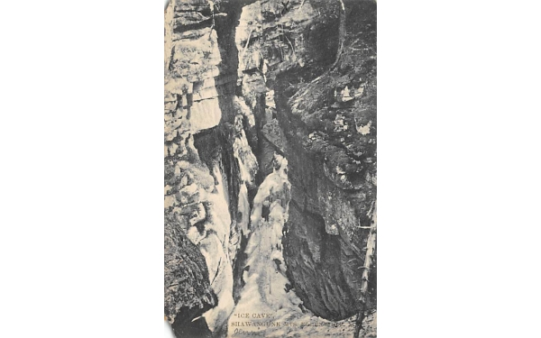 Ice Cave Shawangunk Mountains Ellenville, New York Postcard