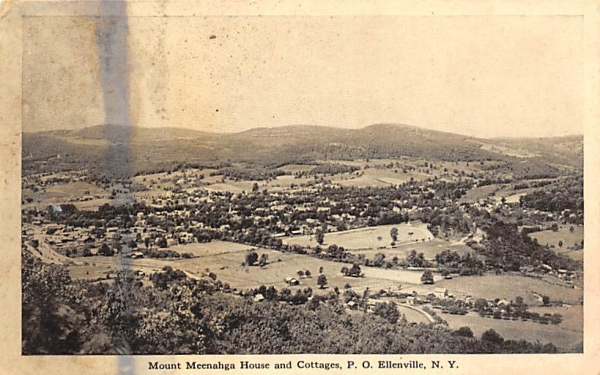 Mount Meenahga and Cottages Ellenville, New York Postcard