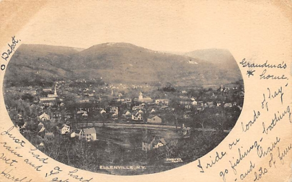 View of Ellenville, New York Postcard