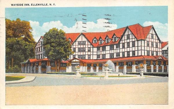 Wayside Inn Ellenville, New York Postcard