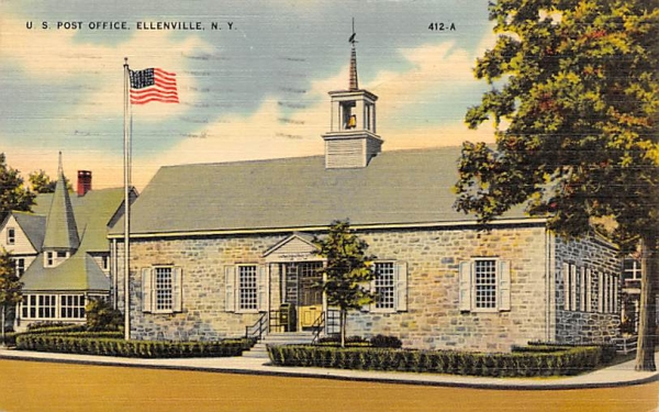 US Post Office Ellenville, New York Postcard