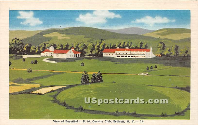 IBM Country Club - Endicott, New York NY Postcard