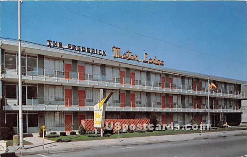 Frederick Hotel & Motor Lodge - Endicott, New York NY Postcard