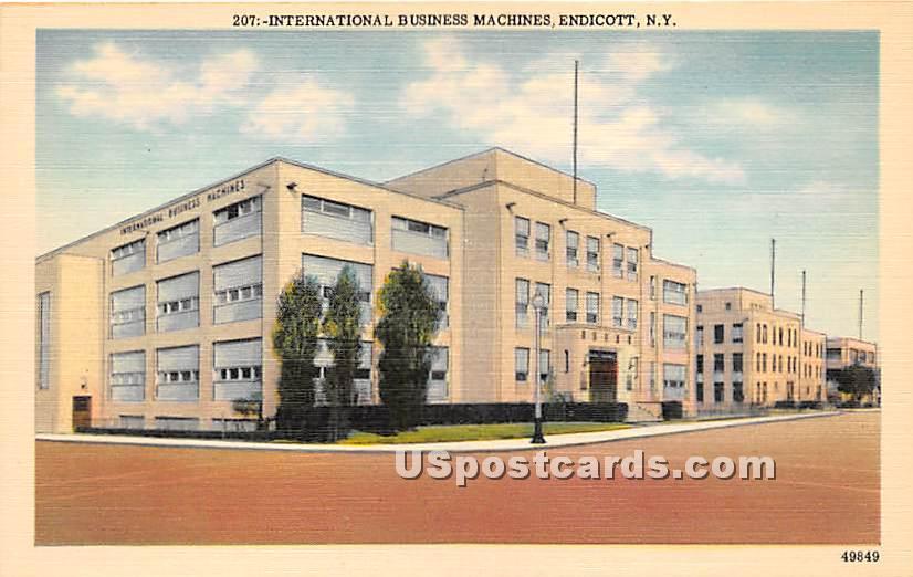 International Business Machines - Endicott, New York NY Postcard