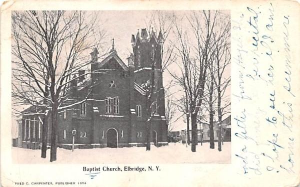Baptist Church Elbridge, New York Postcard