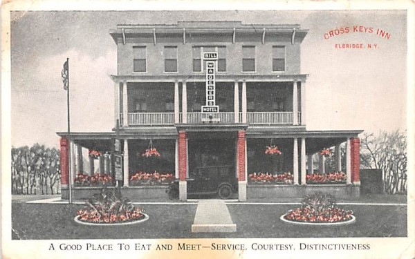 Cross Keys Inn Elbridge, New York Postcard