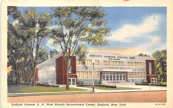 Endicott Johnson AA West Branch Recreational Center New York Postcard