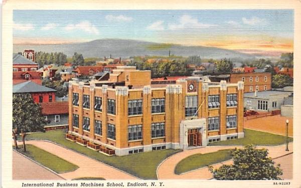 International Business Machines School Endicott, New York Postcard