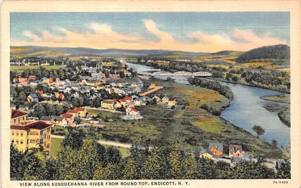 Susquehanna River Endicott, New York Postcard