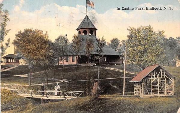 Casino Park Endicott, New York Postcard